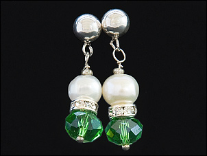 Jade Earrings with Freshwater Pearls on sterling silver 2