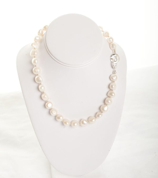 Isla -  Freshwater Pearl w/ Sterling Silver Clasp 10