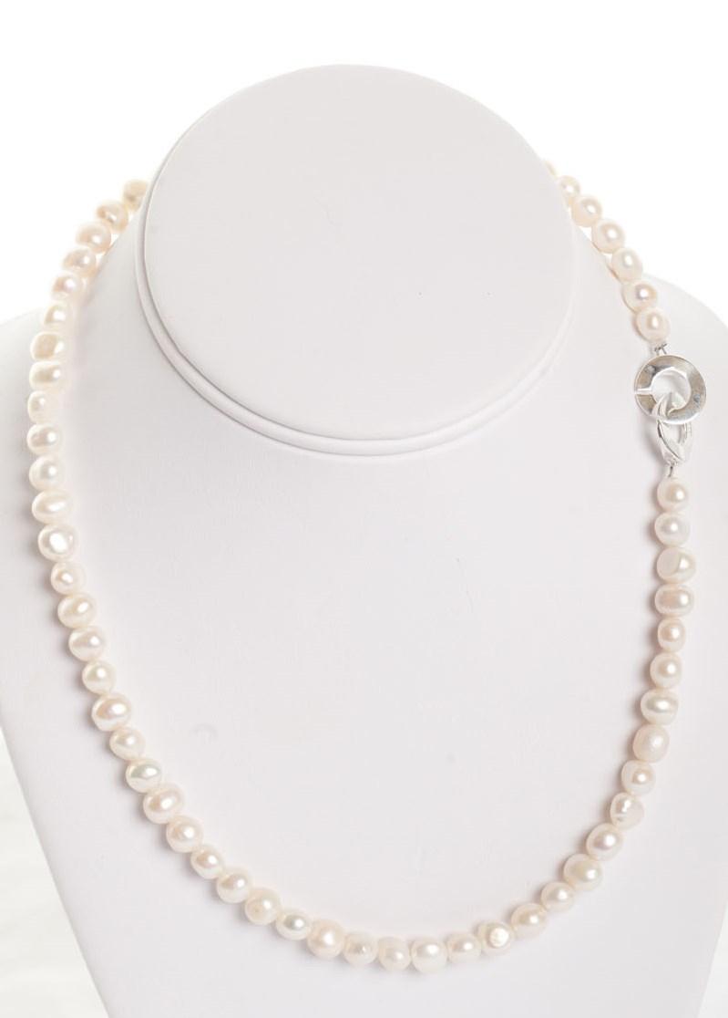 Isla -  Freshwater Pearl w/ Sterling Silver Clasp 6