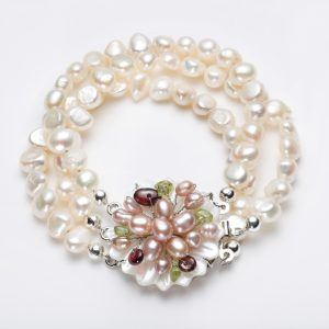 freshwater pearls and semi-precious