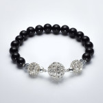 black onyx Bracelet with Magnet clasp made in ireland
