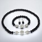 Dubh - Black Onyx with Swarovski Crystals and Rhinestone Encrusted Beads & Rhinestone Magmetic Clasp 2
