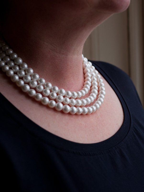 Sarah - Glass Pearl necklace 6