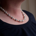 Karen - Freshwater Pearls with encrusted crystal beads 1