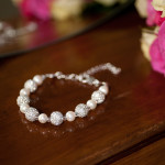 Karen - Freshwater Pearls with encrusted crystal beads 3