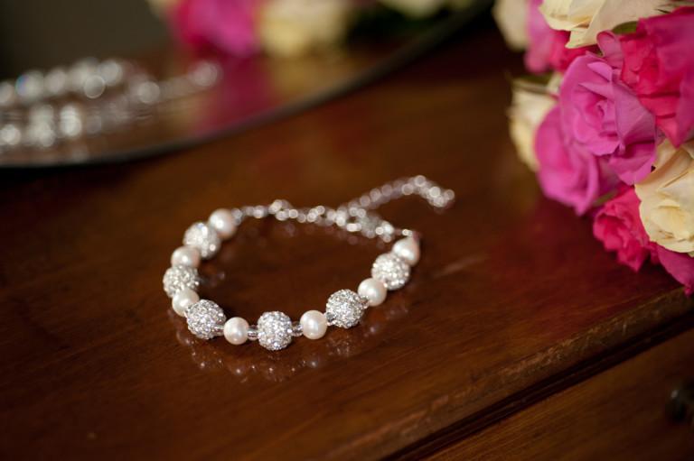 Karen - Freshwater Pearls with encrusted crystal beads 7