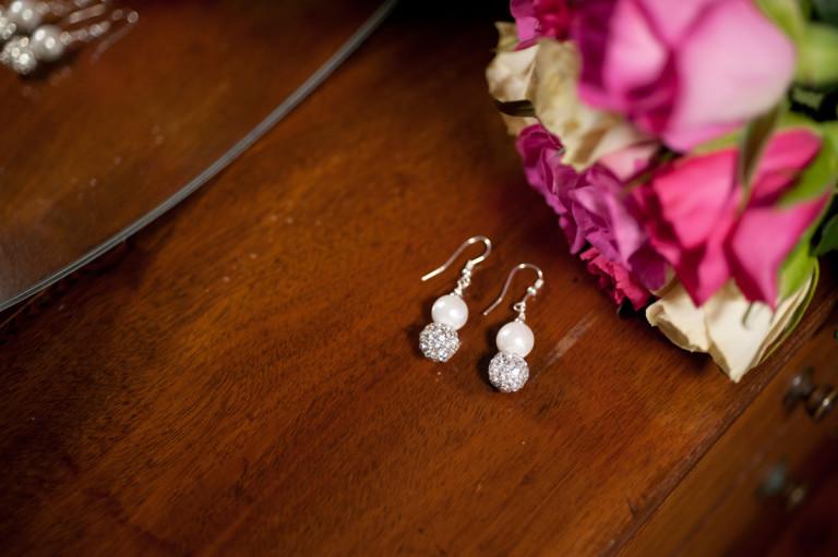 Karen - Freshwater Pearls with encrusted crystal beads 8