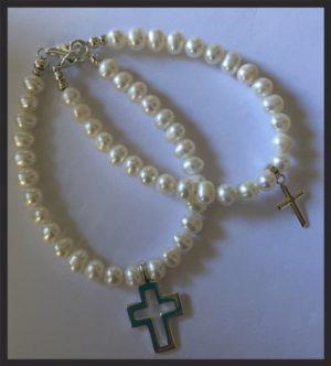 Holly Communion Pearl Bracelet