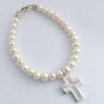 Arora Crystal - Children's Pearl & Crystal Silver Bracelet 3