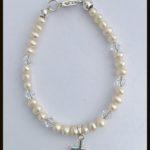 Arora Crystal - Children's Pearl & Crystal Silver Bracelet 1