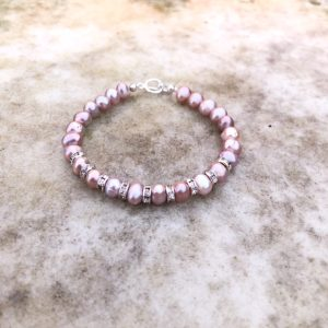 'Charlotte' -Pink Freshwater Pearl Bracelet