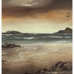 Watching the Waves - Original Canvas Oil Painting