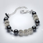 Sparkle - Hematite and Clear Swarovski Crystal Bracelet 2