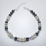Sparkle - Hematite and Clear Swarovski Crystal Bracelet 3