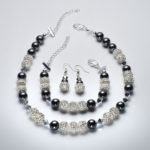 Sparkle - Hematite and Clear Swarovski Crystal Bracelet 4