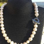 Lady Jane - Large Freshwater Pearl Necklace with a Contemporary Clasp 1