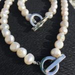 Lady Jane - Large Freshwater Pearls with a Contemporary Clasp 4