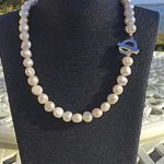 Lady Jane - Large Freshwater Pearl Necklace with a Contemporary Clasp 3