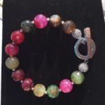 Amanda - Green and Pink toned Agate Bracelet 3