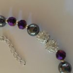 Sparkle - Hematite and deep purple crystal Necklace 4