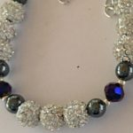 Sparkle - Hematite and Deep Blue Crystal Bracelet 3