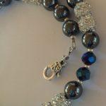 Sparkle - Hematite and Deep Blue Crystal Bracelet 4