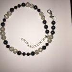 Sparkle - Hematite and deep purple crystal Necklace 2