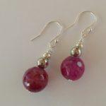 Amanda  Emerald - Green Agate Earrings with Sterling silver earring wire 1