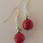 Alex - Red Jade Earrings 3