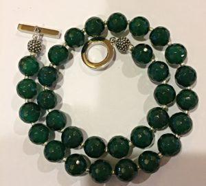 Emerald Green Agate Necklace