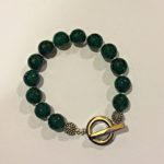 Amanda  Emerald - Green Agate Bracelet 1