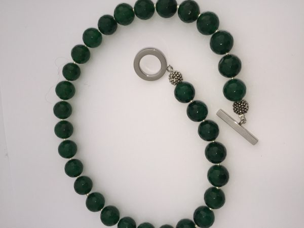 Emerald Green Agate Necklace - 'Agate' 7