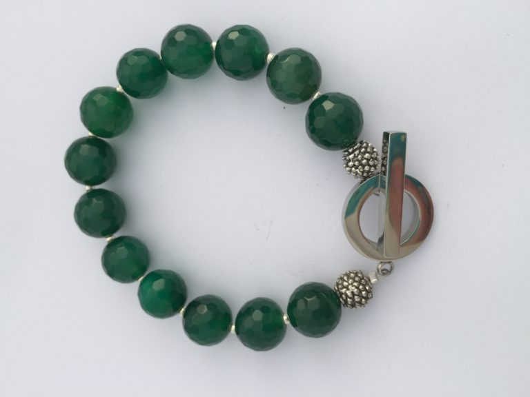 Emerald Green Agate Necklace - 'Agate' 15