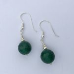 Amanda  Emerald - Green Agate Earrings with Sterling silver earring wire 2