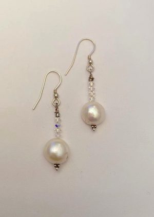 Swarovski Crystals and Pearl earrings