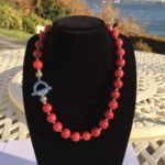 Red Jade Necklace, Handmade in Ireland