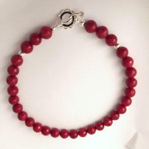 Red Jade Rhinestone encrusted Clasp