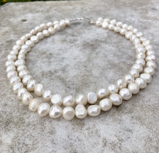A Lady Jane - Large freshwater pearl double strand necklace 7