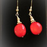 Lipstick - Earrings Coral and sterling Silver 1