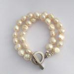 Lady Jane - Large freshwater pearl double strand necklace 4