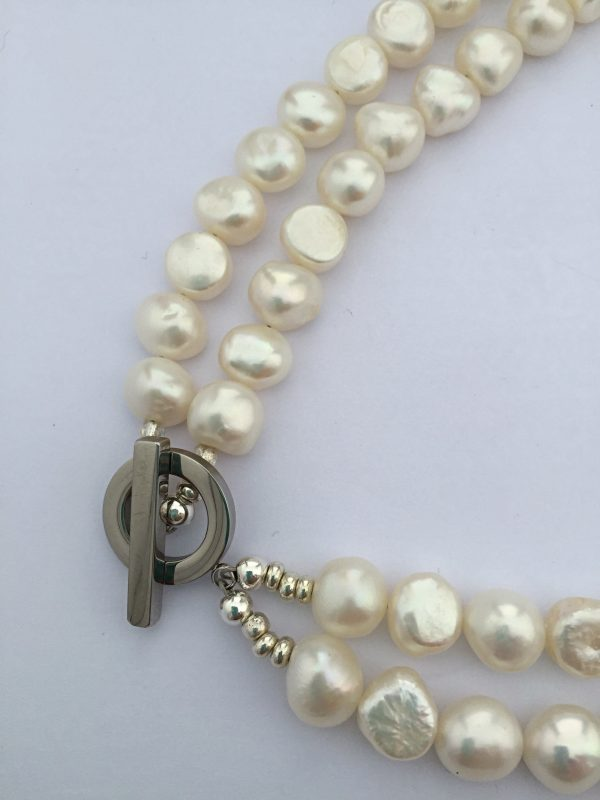 A Lady Jane - Large freshwater pearl double strand necklace 8