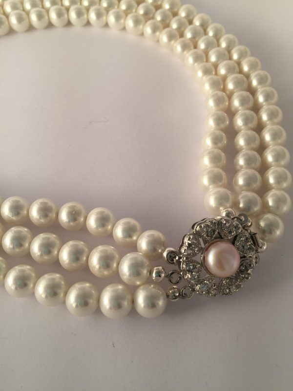 Glass pearl bracelet - Handmade in Ireland