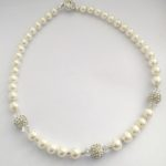 Rachel - Glass Pearls and Swarovski crystals 2