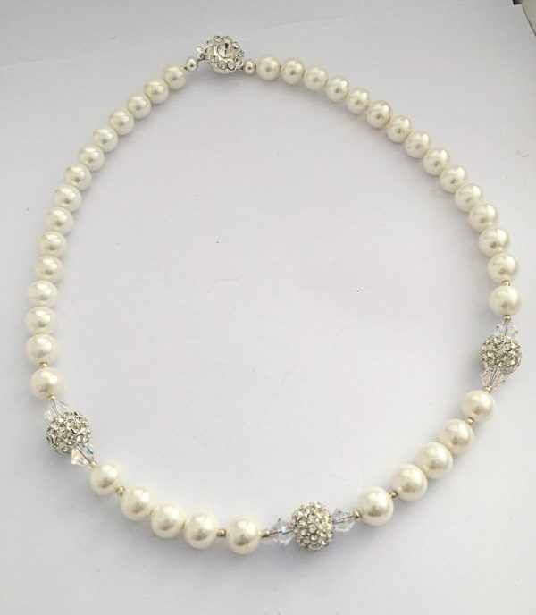 Rachel - Glass Pearls and Swarovski crystals 7
