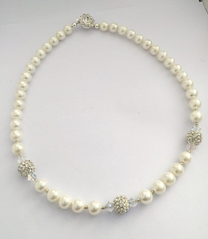 Rachel - Glass Pearls and Swarovski crystals 48