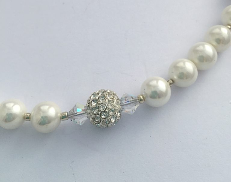 Rachel - Glass Pearls and Swarovski crystals 49