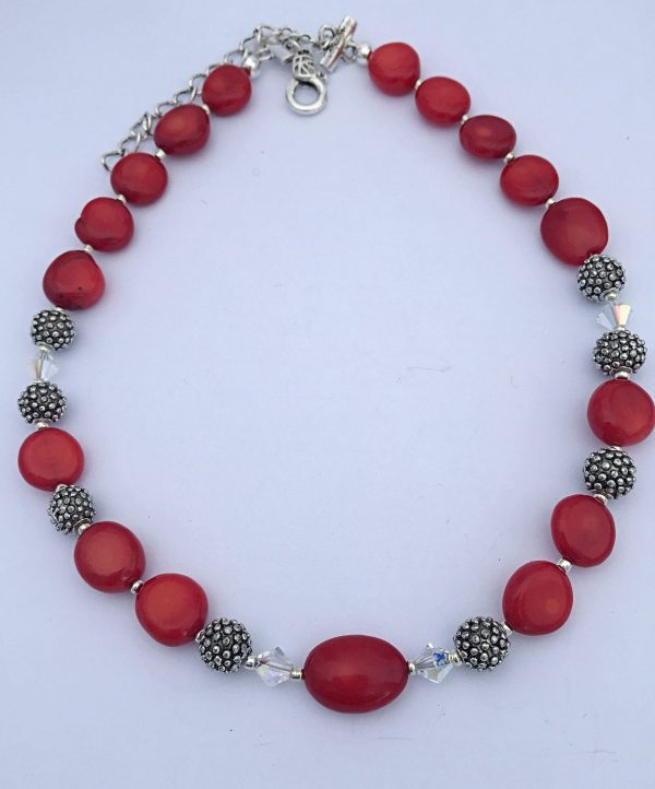 Swaarovski Crystals Red Coral Hand made in Irelans