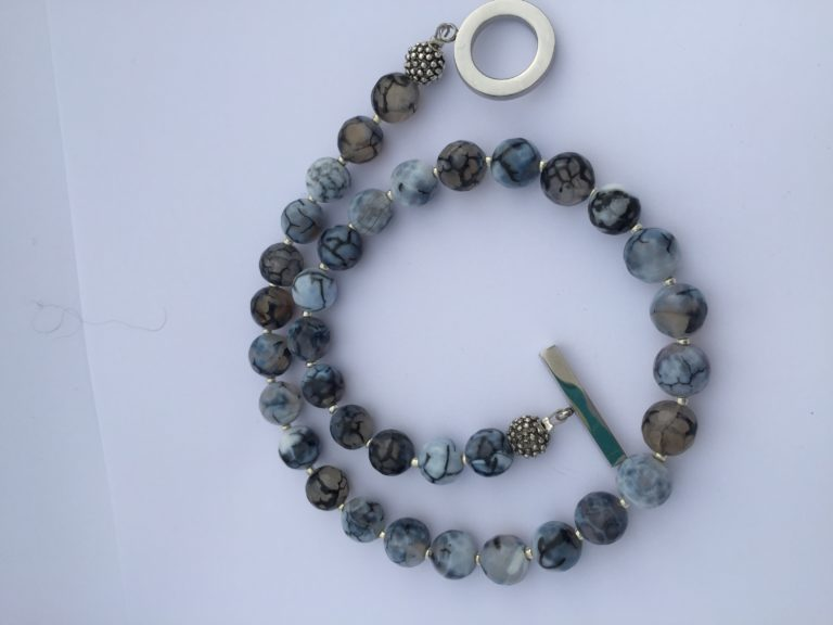 Amanda Agate Gray Necklace