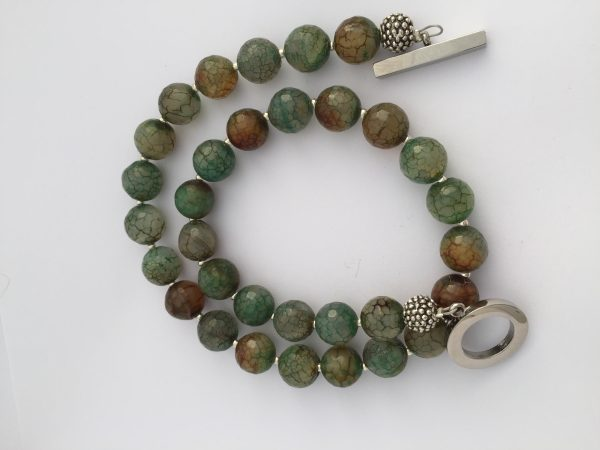 Great Amanda Green Agate Necklace