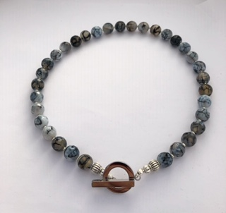 Gray Agate Necklace